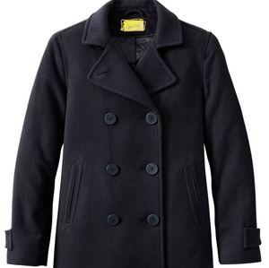 Black Pea Coat Designer Match &stick